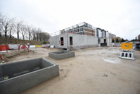 Les travaux de la promenade de l'Arche le 11 janvier 2016 - Defense-92.fr