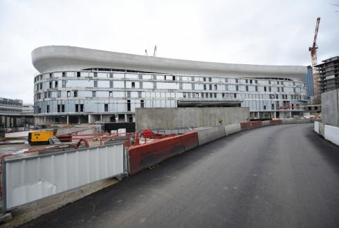 Le chantier de l'Arena 92 le 11 janvier 2016 - Defense-92.fr