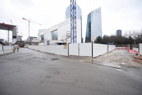 Le chantier de l'hôtel CitizenM le 11 janvier 2016 - Defense-92.fr