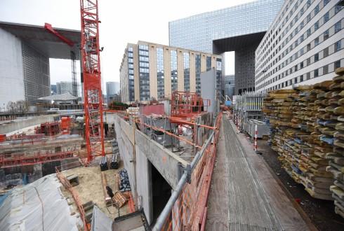 Le chantier Sky Light le 11 janvier 2016 - Defense-92.fr