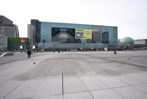 Les travaux de l'immeuble Window le 18 janvier 2016 - Defense-92.fr