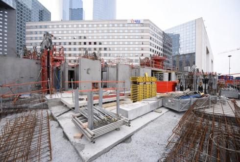 Le chantier Sky Light le 18 janvier 2016 - Defense-92.fr