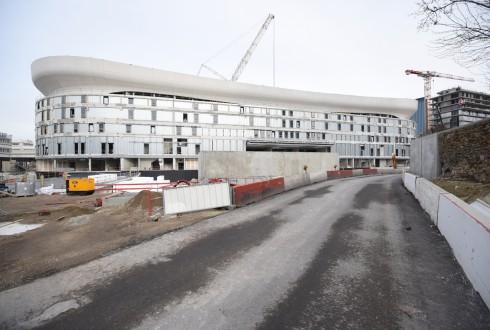 Le chantier de l'Arena 92 le 18 janvier 2016 - Defense-92.fr