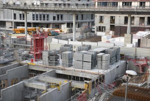 Le chantier de l'hôtel CitizenM le 18 janvier 2016 - Defense-92.fr