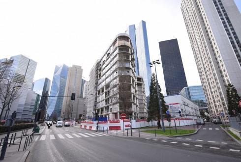 La rénovation de l'immeuble Ampère e+ le 8 février 2016 - Defense-92.fr