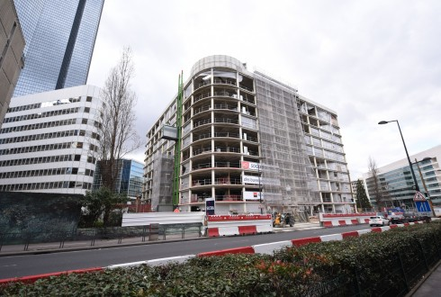La rénovation de l'immeuble Ampère e+ le 15 février 2016 - Defense-92.fr