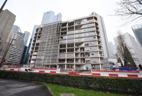 La rénovation de l'immeuble Ampère e+ le 22 février 2016 - Defense-92.fr