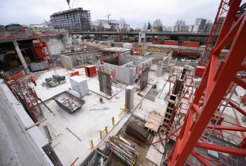 Les travaux du Campus de l'Arche IESEG le 22 février 2016 - Defense-92.fr