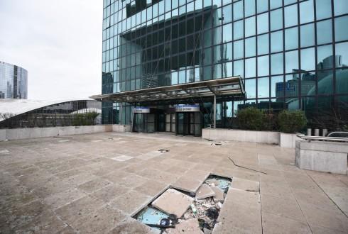Les travaux de l'immeuble Window le 22 février 2016 - Defense-92.fr