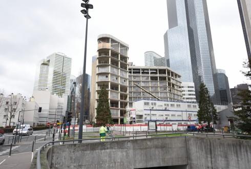 La rénovation de l'immeuble Ampère e+ le 1er février 2016 - Defense-92.fr