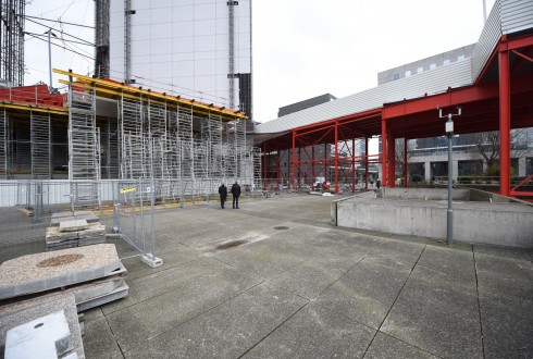 Les travaux de rénovation de la Grande Arche le 1er février 2016 - Defense-92.fr