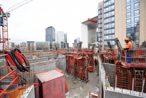 Les travaux de la résidence Sky Light le 1er février 2016 - Defense-92.fr