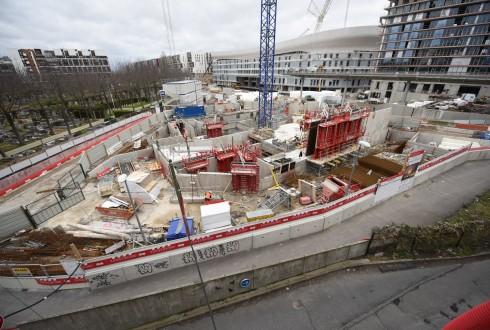 Le chantier de l'hôtel CityzenM le 1er février 2016 - Defense-92.fr