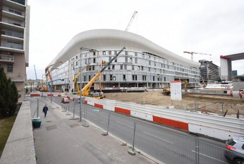 Le chantier de l'Arena 92 le 1er février 2016 - Defense-92.fr