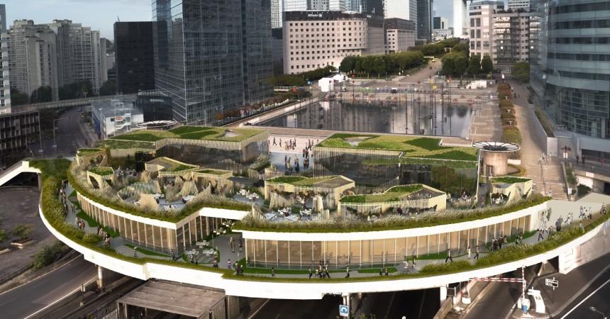 Avec Oxygen , Defacto veut donner de la vie au bout de l'esplanade de La Défense