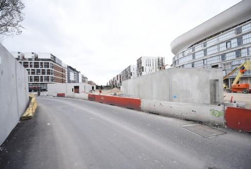 Les travaux d'aménagement des Jardins de l'Arche, le 21 mars 2016 - Defense-92.fr