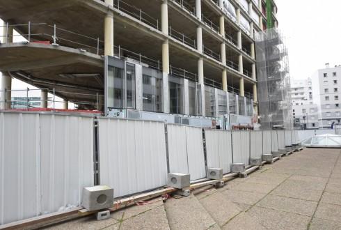 La rénovation de l'immeuble Ampère e+ le 1er mars 2016 - Defense-92.fr