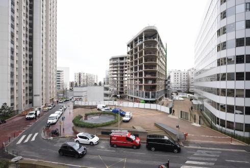 La rénovation de l'immeuble Ampère e+ le 7 mars 2016 - Defense-92.fr