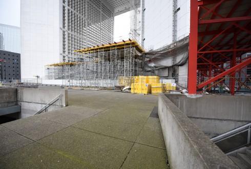 Les travaux de rénovation de la Grande Arche le 7 mars 2016  - Defense-92.fr