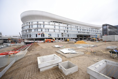 Le chantier de l'Arena 92 le 7 mars 2016 - Defense-92.fr