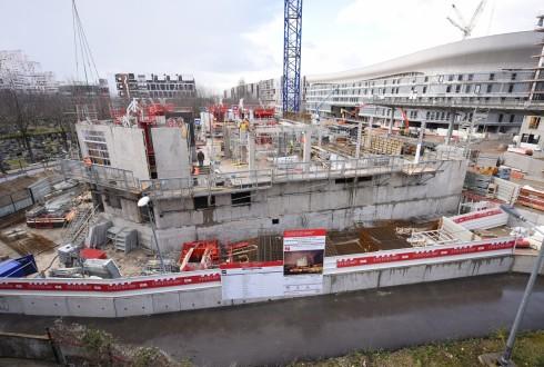 Le chantier de l'hôtel CityzenM le 7 mars 2016 - Defense-92.fr