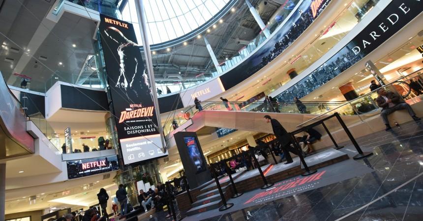 Netflix de retour sur le Digital Dream des 4 Temps avec une campagne inédite pour sa série Daredevil