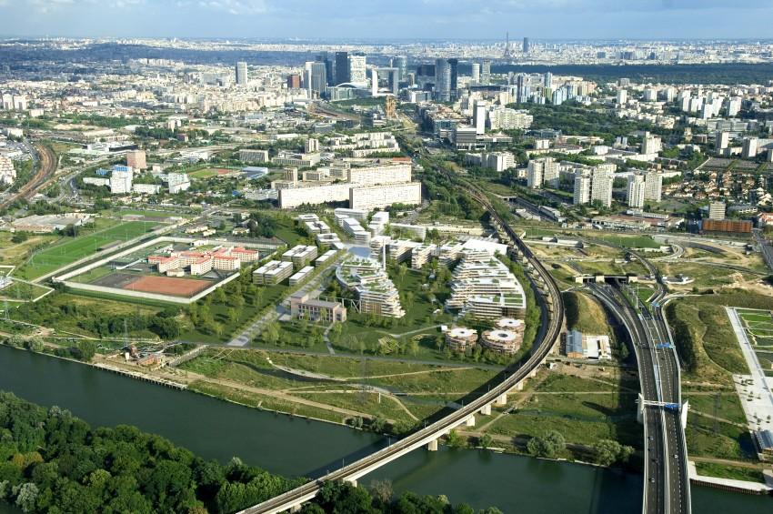 """Vue aérienne du projet """"Campus Seine"""" qui devrait voir le jour entre 2020 et 2022 - Laisné Roussel / François Leclerq"""