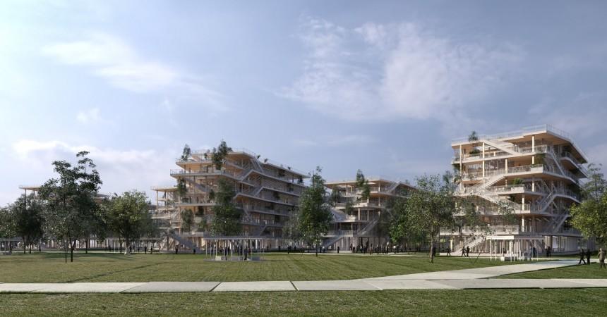 Un méga campus en bois en préparation pour remplacer les anciennes papeteries de la Seine