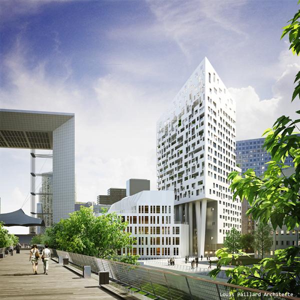 Le projet Skylight et le campus Ieseg - DR / agence Louis Paillard
