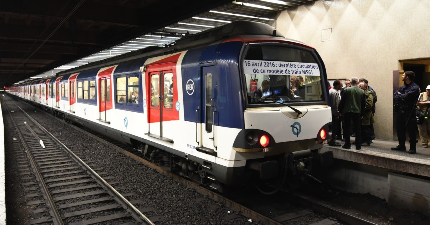 RER A : la RATP dit adieu à ses rames MS61