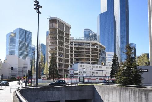 La rénovation de l'immeuble Ampère e+ le 18 avril 2016 - Defense-92.fr