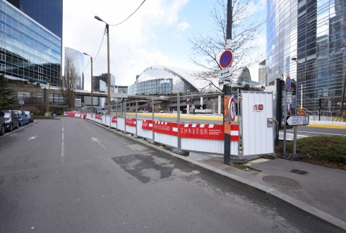 Les travaux préparatoires de la tour Trinity le 4 avril 2016 - Defense-92.fr