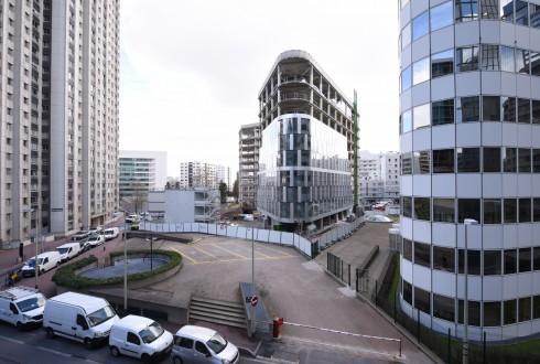 La rénovation de l'immeuble Ampère e+ le 4 avril 2016 - Defense-92.fr
