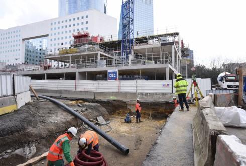 Le chantier de l'hôtel CitizenM le 4 avril 2016 - Defense-92.fr
