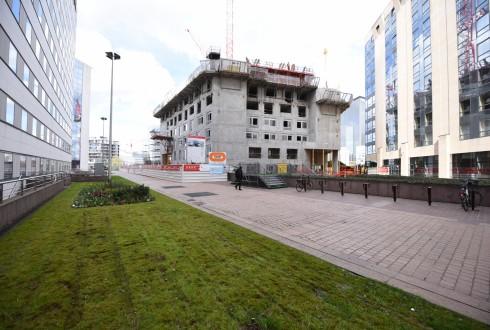 Le chantier Sky Light le 4 avril 2016 - Defense-92.fr