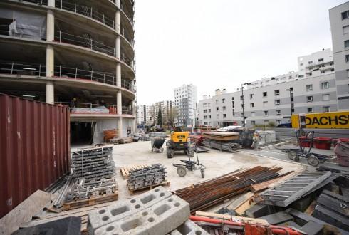 La rénovation de l'immeuble Ampère e+ le 11 avril 2016 - Defense-92.fr