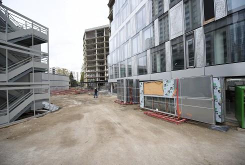 La rénovation de l'immeuble Ampère e+ le 25 avril 2016 - Defense-92.fr