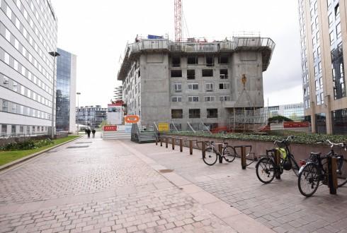 Le chantier Sky Light le 11 avril 2016 - Defense-92.fr