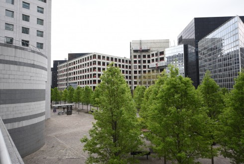 Les travaux de rénovation de l'immeuble du cours Michelet le 25 avril 2016 - Defense-92.fr