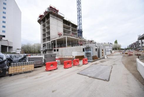 Le chantier de l'hôtel CitizenM le 25 avril 2016 - Defense-92.fr