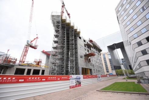 Le chantier Sky Light le 25 avril 2016 - Defense-92.fr