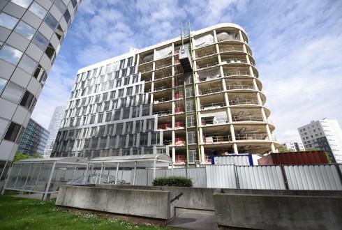 La rénovation de l'immeuble Ampère e+ le 9 mai 2016 - Defense-92.fr