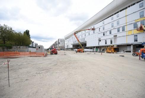 Les travaux de la promenade de l'Arche le 9 mai 2016 - Defense-92.fr