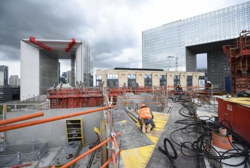 Le chantier Sky Light le 9 mai 2016 - Defense-92.fr