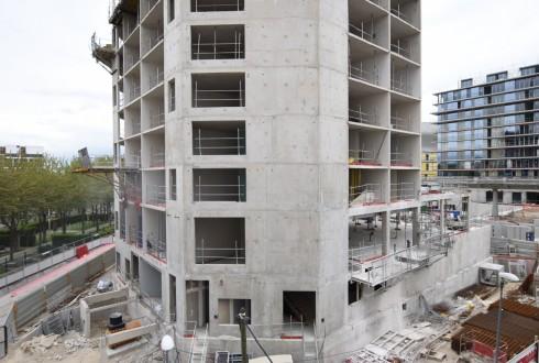 Le chantier de l'hôtel CitizenM le 9 mai 2016 - Defense-92.fr