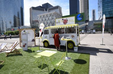 Le foodtruck de Genius de passage à La Défense