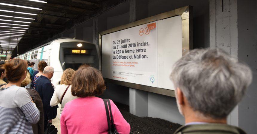 A l'approche de la fermeture du RER A pour les travaux d'été, la RATP redouble sa communication