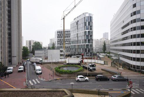La rénovation de l'immeuble Ampère e+ le 6 juin 2016 - Defense-92.fr