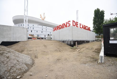 Les travaux de la promenade de l'Arche le 6 juin 2016 - Defense-92.fr