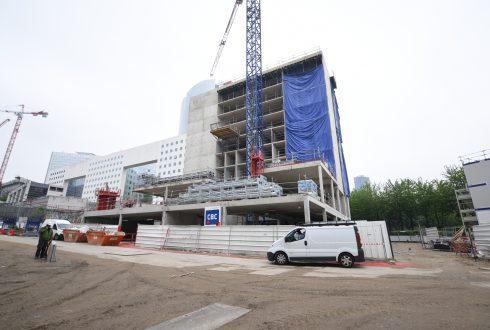 Le chantier de l'hôtel CitizenM le 6 juin 2016 - Defense-92.fr